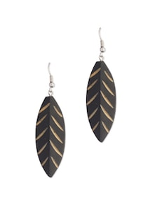Trendy Leaf Shaped Wooden Earrings