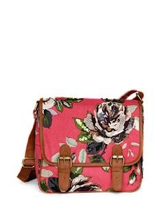 Pink Hand Embroidered Cross Body Bag - Shaun Design