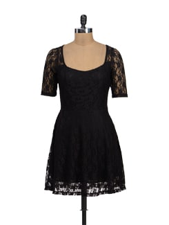 Elegant Black Lace Dress - TREND SHOP
