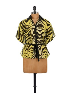 Trendy Yellow Kaftan Shirt - AKYRA