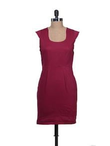 Tailored Maroon Dress - Reen's