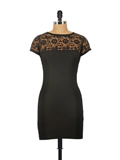 Lace Black Dress - Reen's
