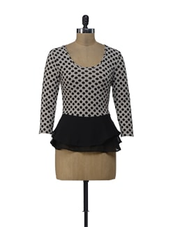 Polka Dots Peplum Top - ShopImagine
