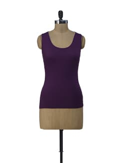 Purple Lacy Tank Top - ShopImagine