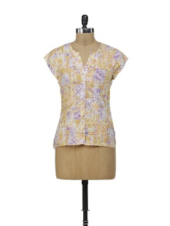 Floral Patchwork Pattern Top - Osia Italia