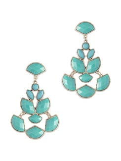 Mint Blue Chandilier Drop Earrings - Miss Chase