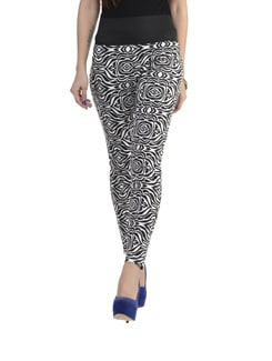 Printed Black And White Jeggings - 335th
