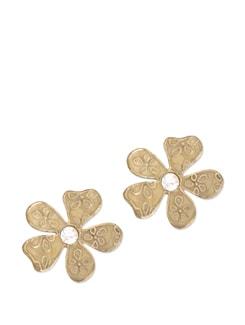 Floral Enamel Stud Earrings - Blend Fashion Accessories