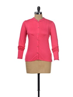 Fuchsia Pleated Top - NUN