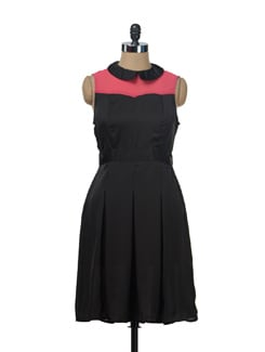 Chic Peter Pan Collared Sleeveless Dress - NUN