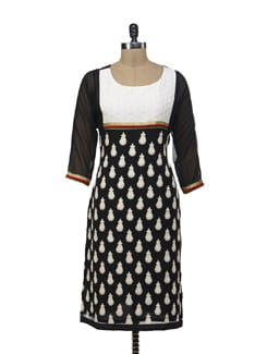 Elegant Black Embroidered Kurta - Morpunc