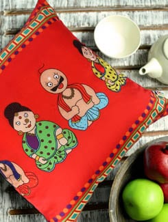 Nodding Doll Cushion Cover - The Elephant Company