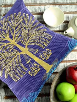 Warli Tree Cushion Cover - The Elephant Company 42495