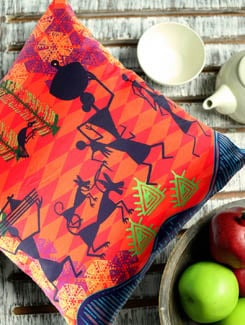Modern Warli Cushion Cover - The Elephant Company