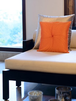 Orange Quilted Cushion Cover - Nakalchee Bandar