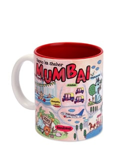 Ceramic Mugs Mumbai Maps - The Elephant Company
