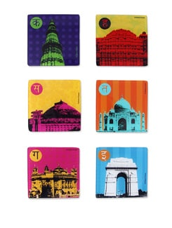 Coaster Acrylic India Monument S/6 - The Elephant Company