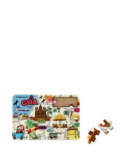 Puzzle Coaster MDF Goa Map - The Elephant Company