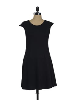 Black Rebecca Peplum Dress - Thegudlook