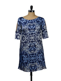 Printed Satin Dress - I KNOW By Timsy & Siddhartha