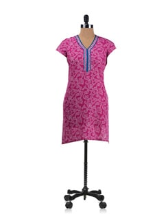 Pretty In Pink Printed Kurta - Aurelia