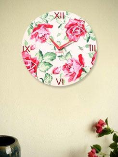 Zeeshaan Vintage Rose Wall Clock - Zeeshaan