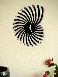 Black Spiral Wall Clock - Zeeshaan