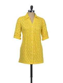 Sunshine Yellow Pintucked Shirt - Myaddiction