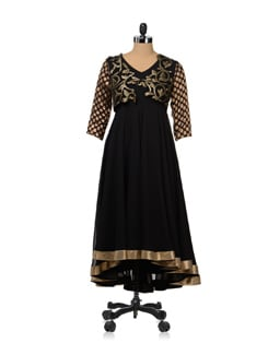 Exquisite Zari Embellished Black Dress - Shilpi K