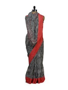 Printed Saree With Lace Border - HERMOSEAR