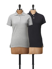 Set Of Two Polo T-Shirts - Campus Sutra
