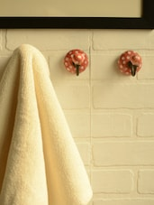Polka Dotted Red Ceramic Hooks- Set Of 3 - Casa Decor