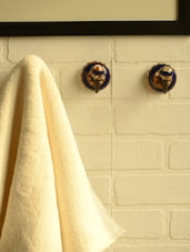 Dotted Brown Ceramic Hooks- Set Of 3 - Casa Decor