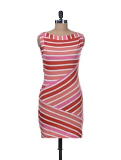 Zigzag Stripe Dress - Color Cocktail