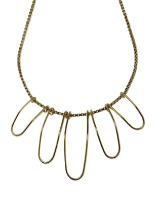 Contemporary Gold Neckpiece