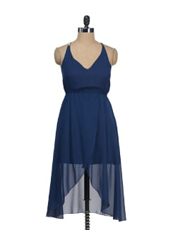 Royal Blue Strappy Dress - Tops And Tunics