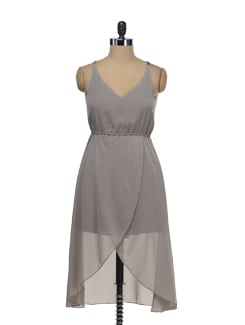 Slinky Grey Dress - Tops And Tunics