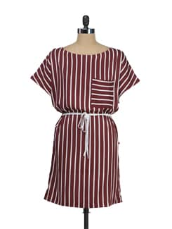 Striped Casual Dress - Tops And Tunics
