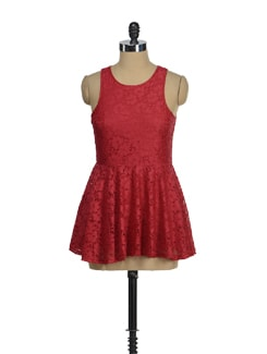 Red Hot Short Party Dress - AND