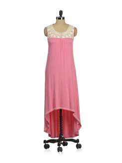 Pink & White Asymmetric Dress - AND