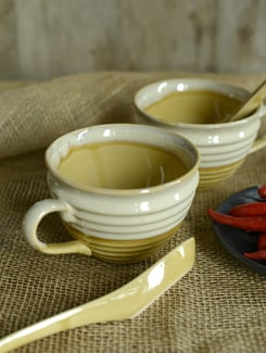 Studio Ribbed Soup Mugs - Set Of 2 - Cultural Concepts