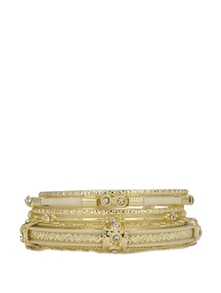 Bangles In White And Gold - Flaunt