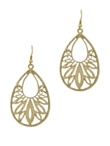 Antique Gold Earrings - Flaunt
