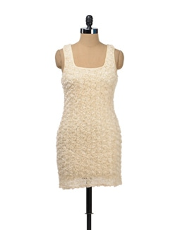 Lace Rosette Dress - TREND SHOP