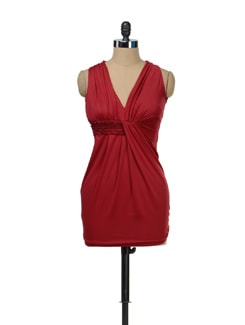 Sultry Maroon Dress - TREND SHOP