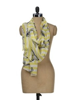 Butterfly Print Scarf - J STYLE
