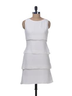 White Tiered Dress - Femella