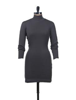 Back Zipper Bodycon Dress - Femella
