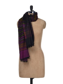 Multicolored Striped Warm Dupatta - SONJATO SEN