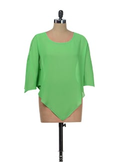 Parrot Green V-Front Top - Besiva